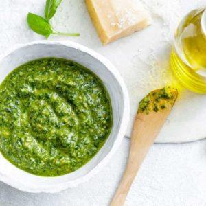 Garlic, Pesto & Tahini